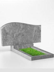 Мраморный памятник фигурный 60 х 110 см
