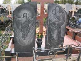Памятник на двоих с оградкой