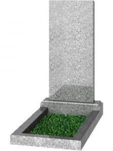 Серый гранитный памятник прямой 110х50